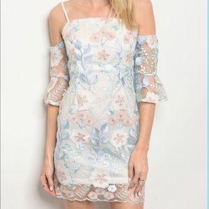 Price Drop! Beautiful Floral Lace Dress